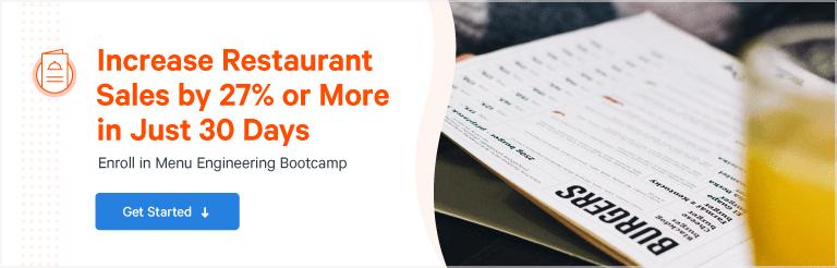 Menu Engineering Bootcamp: Increase Restaurant Sales [Free