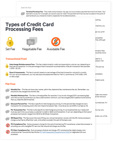 Credit Card Processing Sheet