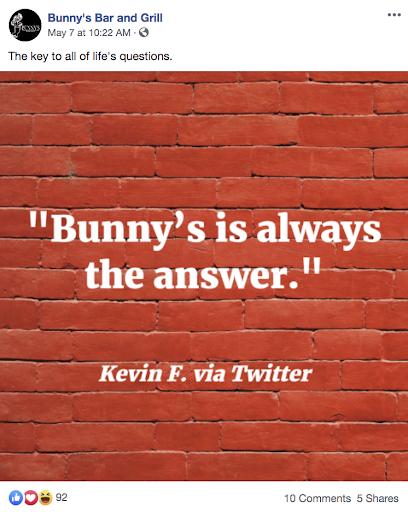 restaurant brand - customer testimonials