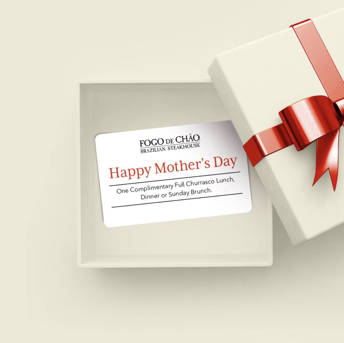 Fogo De Chao Mother's Day Promotion