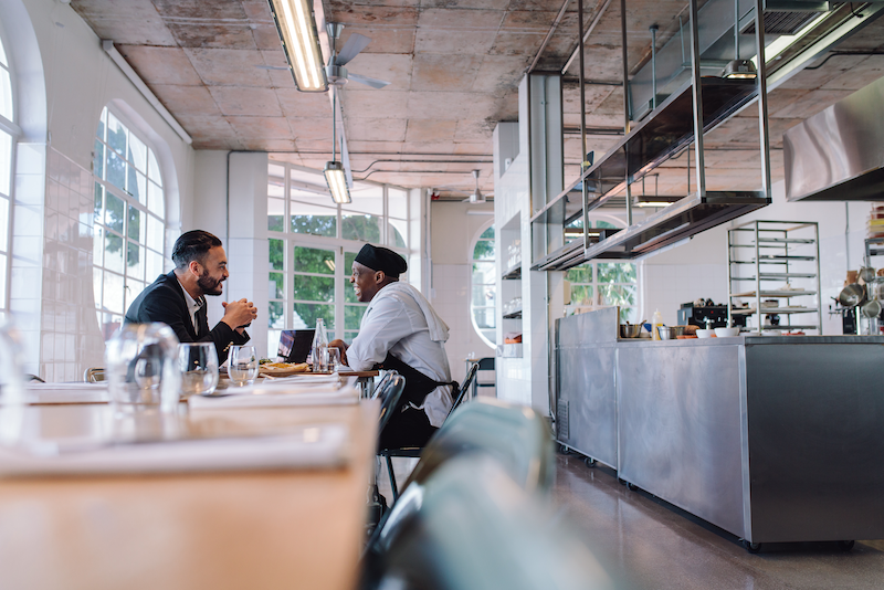 restaurant brand - interviewing