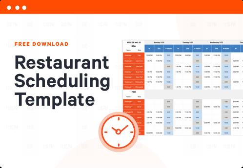 Restaurant Scheduling Template | Toast POS