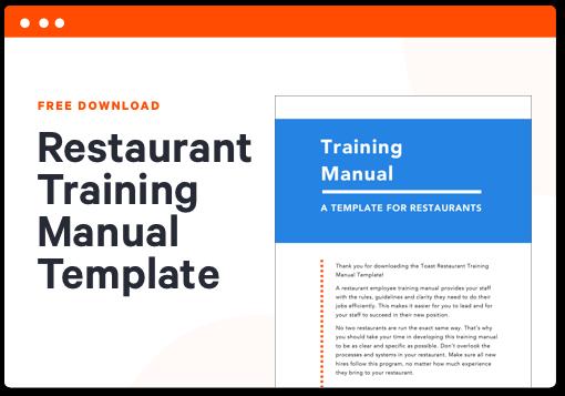 Restaurant Training Manual Template Toast Pos
