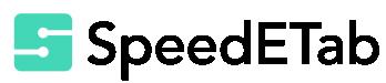 Speed E Tab s logo horizontal color white