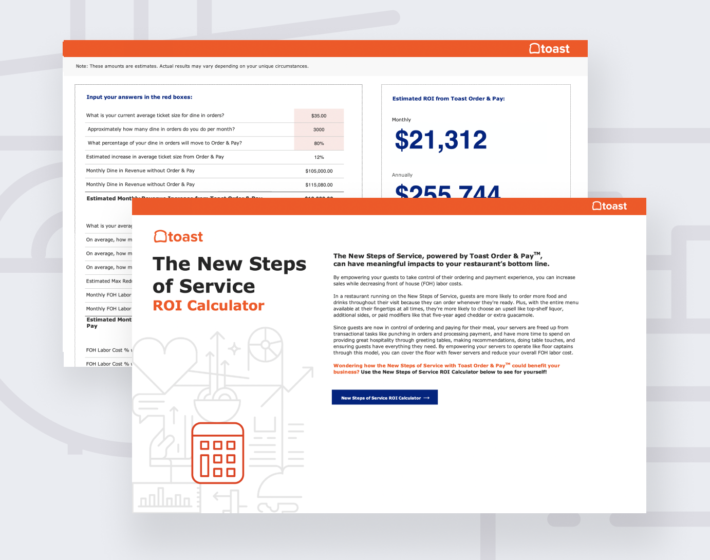 the new steps of service roi calculator