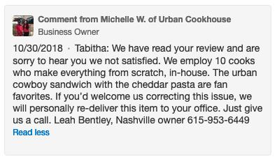 restaurant brand - online reviews