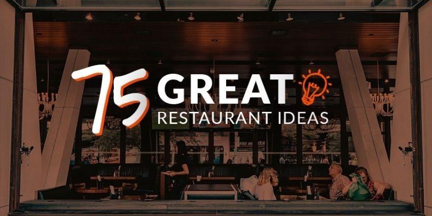 Great restaurant ideas 1