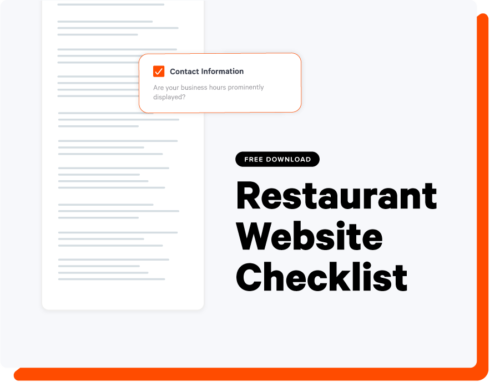 Restaurant Website Checklist Landing Page Thumbnail
