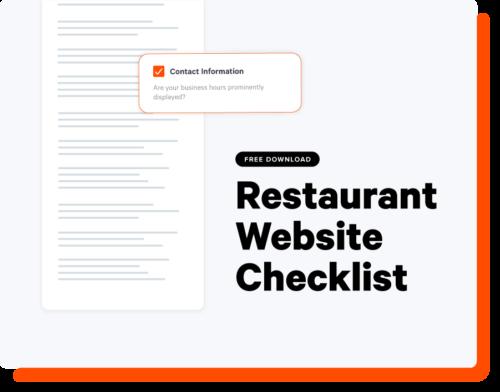 Restaurant Website Checklist Landing Page Thumbnail