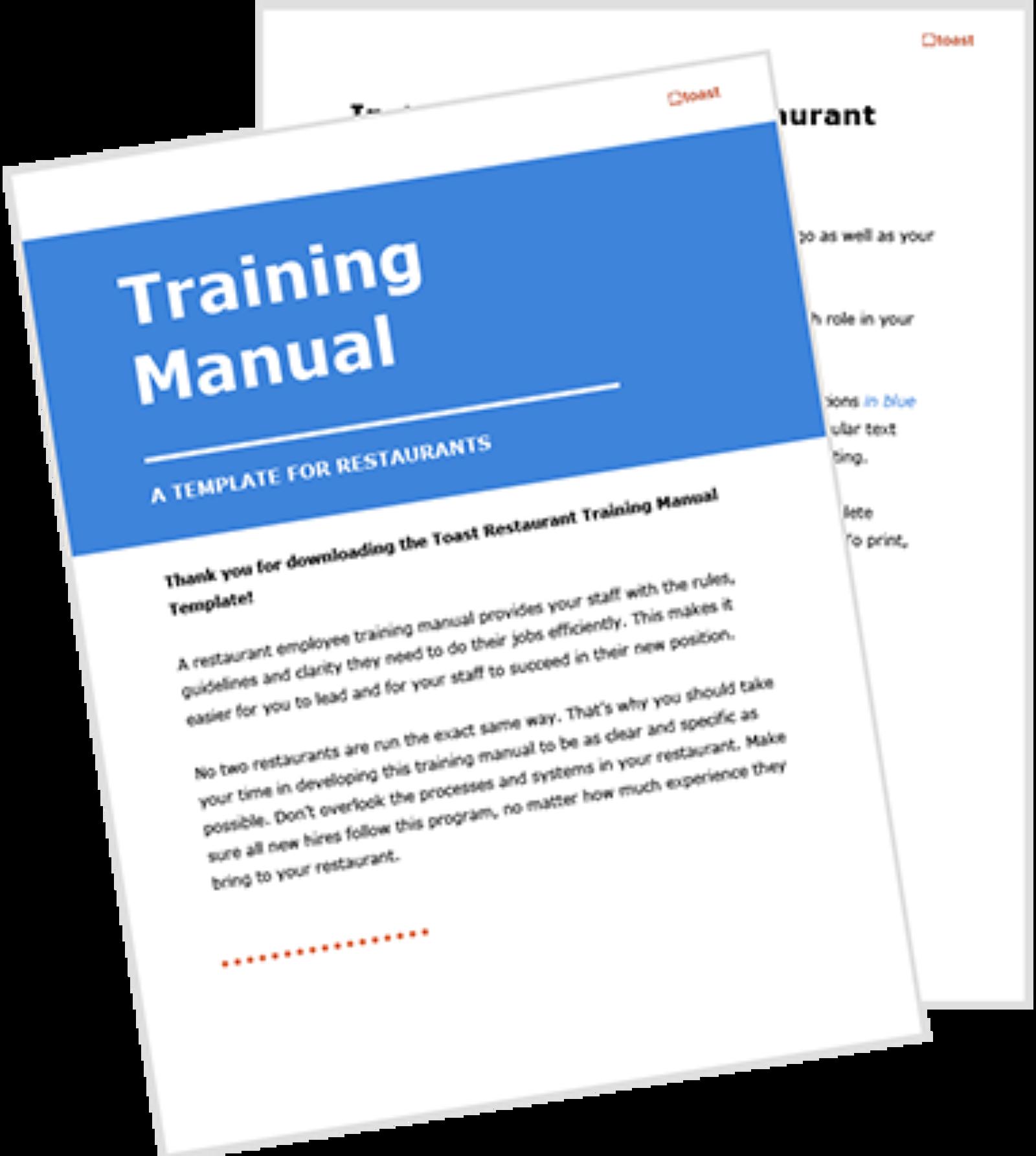 Training manual template
