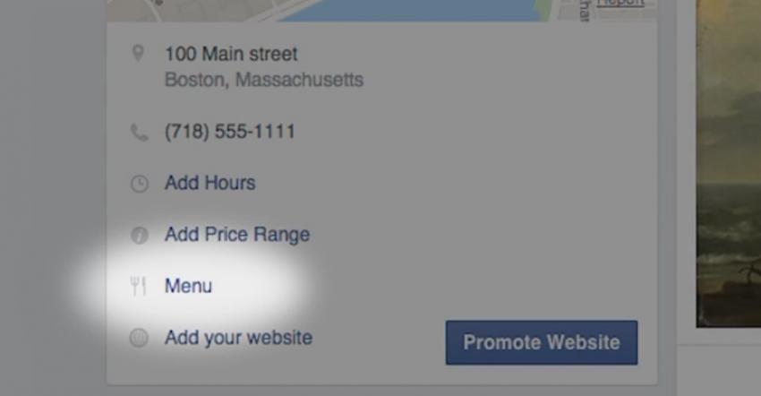 Add Restaurant Menu To Facebook