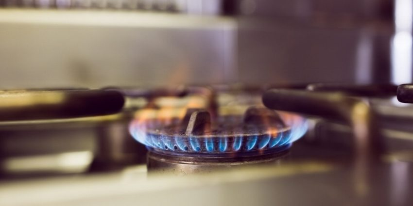 Closeup Of Burning Gas On The Kitchen Gas Stove 216516 Edited