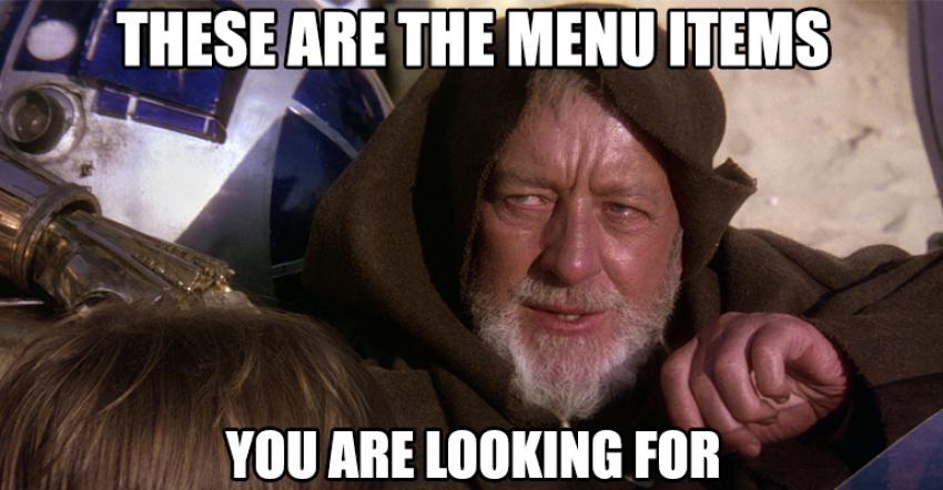 Jedi Mind Trick Menu