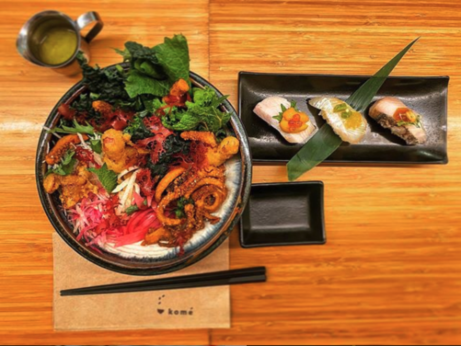 Kome Ramen and sushi