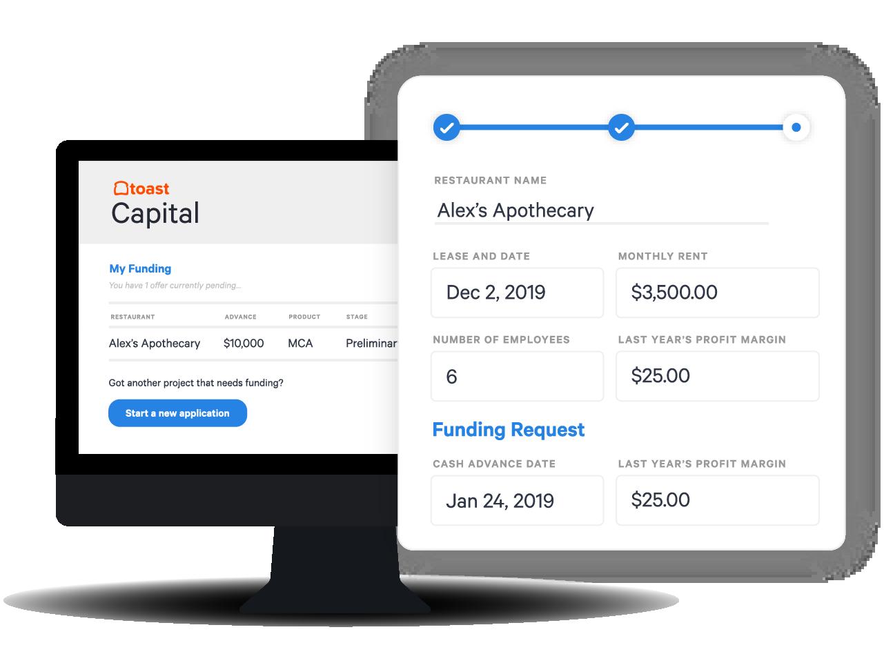 Toast Capital: restaurant financing