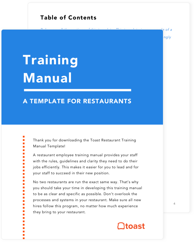 Restaurant training manuel preview